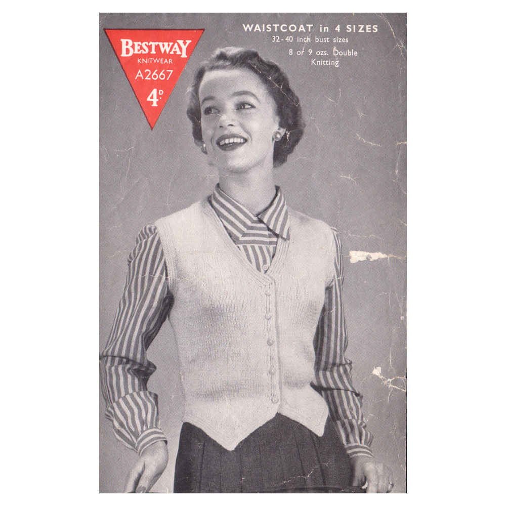 Vintage Knitting Patterns For Sale. Genuine Vintage Fashion film props