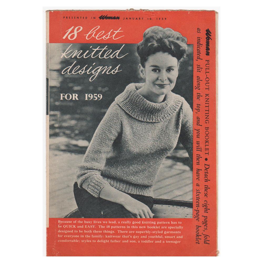 Vintage Knitting Patterns For Sale. Genuine Vintage Fashion film props
