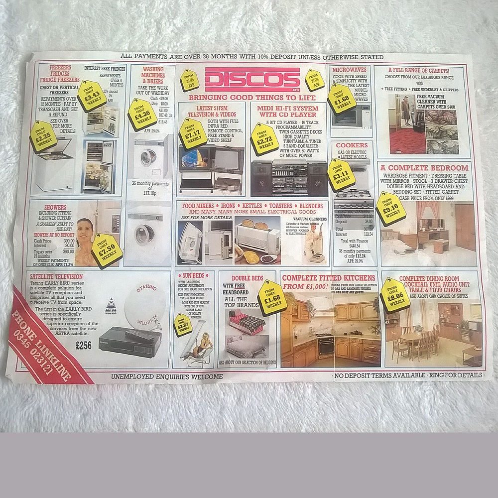Home Shopping Catalogues Uk Jobs - Home shopping leaflet click photo for larger rear view