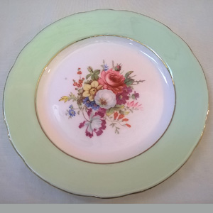 Antique 1920s Hammersley and Co Bone China Side Plate - Top View & Vintage Antique China Porcelain For Sale. Coalport. Aynsley. Royal ...