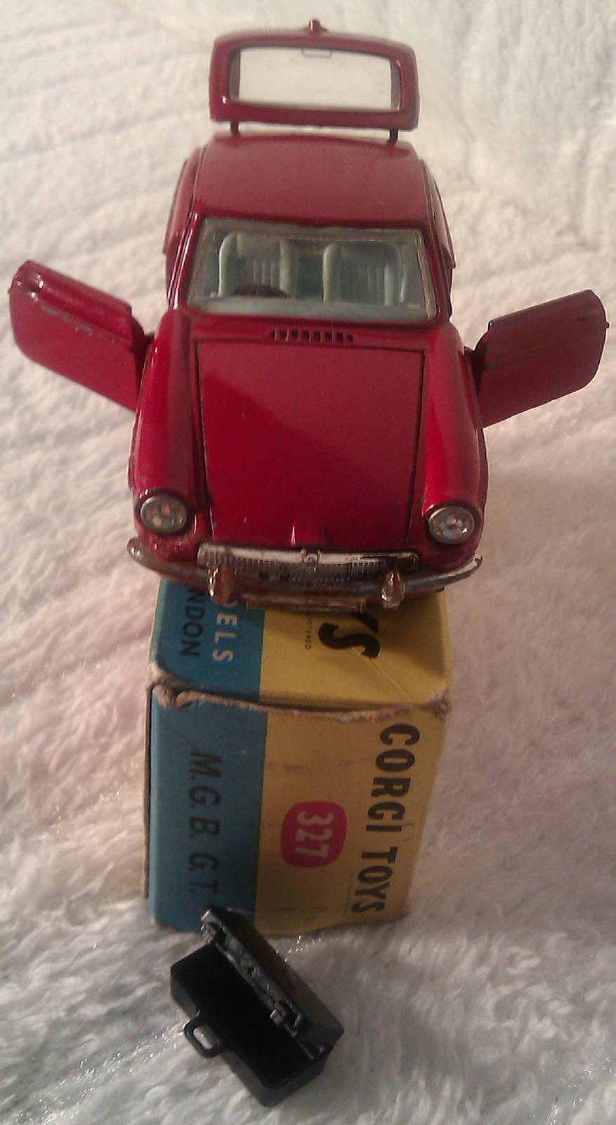 Vintage 1960s MGB GT Corgi Toy Car For Sale Model 327 Corgi Car with box